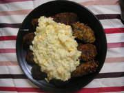 豆腐、海苔の佃煮、チーズで♪牡蠣フライ風の写真