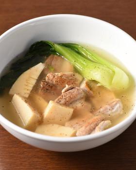 筍と塩豚の春のスープ