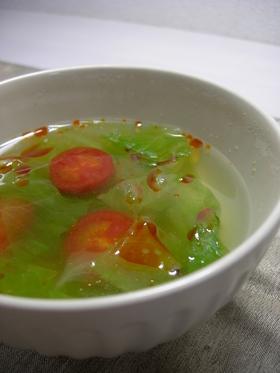 レタスとトマトの中華スープ♪
