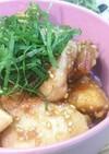 柔らか~い鶏胸肉の梅ダレ丼