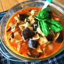 レンジで♪茄子とチーズの野菜ジュース煮