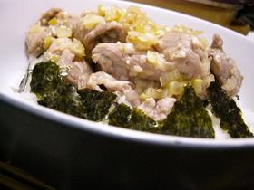 ❀ネギ塩味で頂く豚丼❀