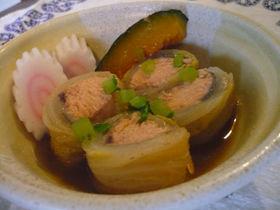 秋鮭のロール白菜