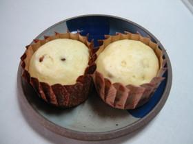 レーズンとチーズの蒸しパン