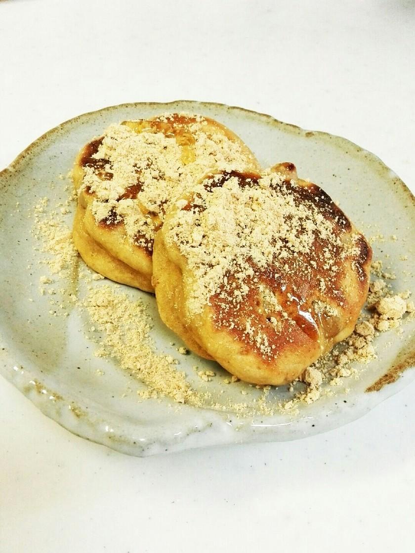 サックリおいしい蒸し大豆のパンケーキ