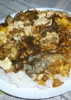 納豆+生もずく入りオムレツのカフェ丼