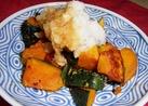 焼きかぼちゃ☆おろしと麺つゆでドーン♪