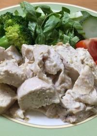 鶏ハム風 鶏胸肉のカラシ味噌マヨネーズ