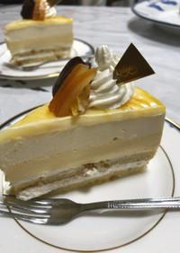 オレンジ&ヨーグルトムースケーキ