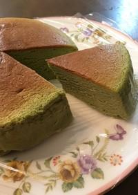 抹茶スフレチーズケーキ♡オーブン