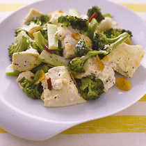 豆腐のペペロンチーニ