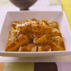 豆腐とめかじきのチリソース