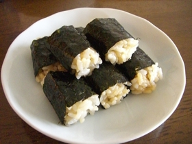バター醤油海苔巻きご飯