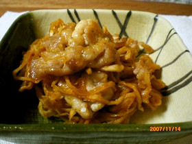 ご飯に合う!!切り干し大根と豚肉の韓国風