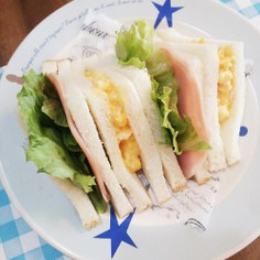 食パン1枚で☆簡単薄切りミックスサンド