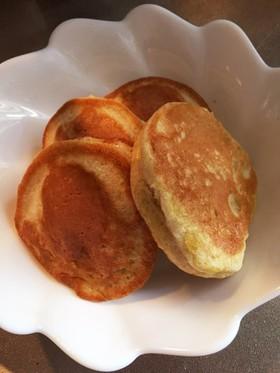 バナナ豆乳ホットケーキ(離乳食後期)