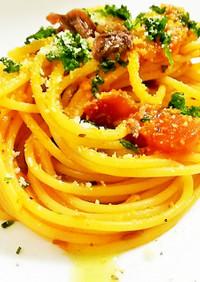 7種類の香草スパゲッティー ピリ辛