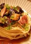 レンジで簡単!ピリ辛茄子の和風冷製パスタ