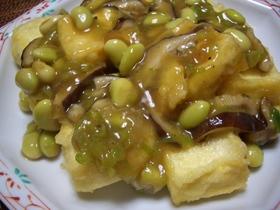 揚げだし豆腐の牡蠣油ソース掛け