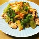 豚しゃぶとキャベツの韓国風サラダ