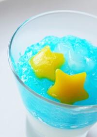 【簡単七夕スイーツ】かき氷シロップゼリー
