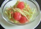 ブロッコリー茎のグレープフルーツマリネ