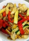 やわらか鶏胸肉と夏野菜のカレー風味炒め☆