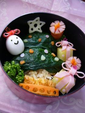 ポテトのBOX☆クリスマスキャラ弁