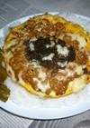納豆+生もずく入りオムレツのカフェ丼v2