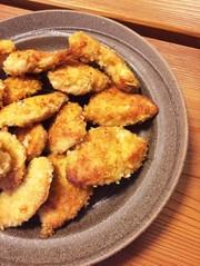 鶏胸肉でチキンカツ風パン粉焼き♪の写真