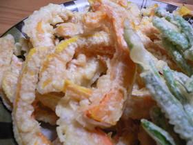カレー塩で美味しさ倍増♪かぼちゃの天ぷら