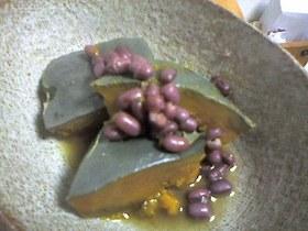 カボチャと小豆でマクロビレシピ☆簡単煮物