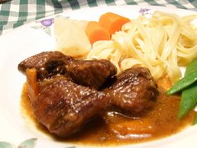 聖夜に☆ 牛肉の赤ワイン煮