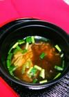 もずくと、エノキ茸のスープ!