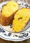 フランスパンの生からすみ朝ごはん