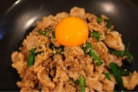 スタミナ満点!豚バラ肉のガリニラ炒め