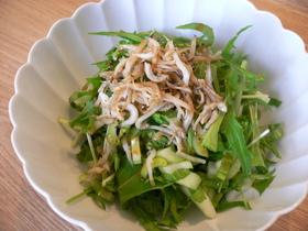 チンゲン菜と水菜☆じゃこサラダ
