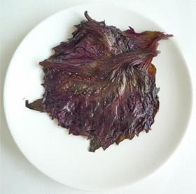 赤紫蘇の葉の塩漬け