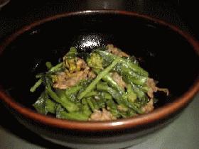 菜の花とアサリの辛子和え