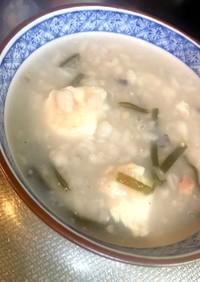 蕎麦湯のお粥(^^)