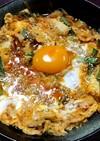 豚キムチ煮の卵とじ