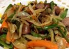 簡単香ばしい ソーセージ野菜炒め