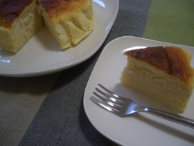 スフレチーズケーキ★はちみつレモン風味