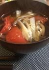 白だしだけで☆簡単トマトの和風スープ