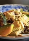 南瓜と高野豆腐のチャンプルー