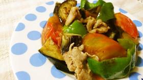 さっと簡単♪夏野菜の焼肉のタレ炒め