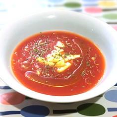 おいしく紫外線対策♪冷製トマトスープ