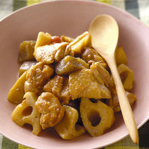 鶏肉とれんこんの梅風味煮
