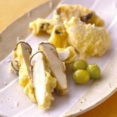 まつたけと白身魚の天ぷら