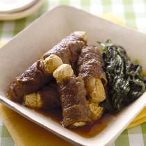 肉巻き豆腐の煮もの